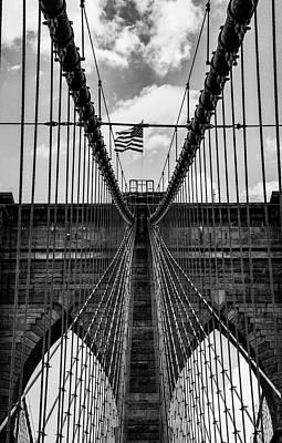 Photograph - Brooklyn Bridge Bw by Joseph Yarbrough