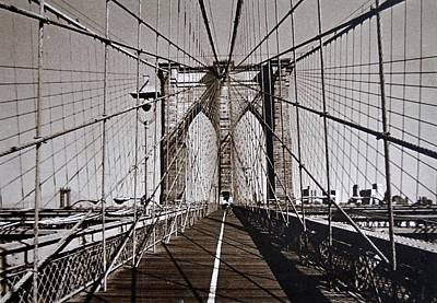 Photograph - Brooklyn Bridge By Art Farrar Photographs, Ny 1930 by Robert Grubbs