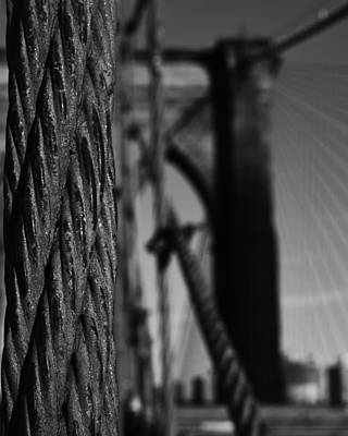 Photograph - Brooklyn Bridge Cable by Toby McGuire