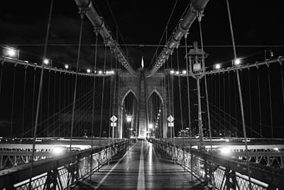 New York City Photograph - New York's Brooklyn Bridge Crossing by David Lobos