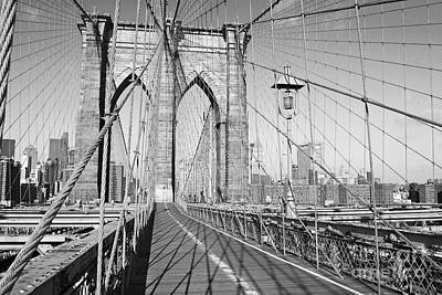 Brooklyn Bridge Deck Print by Andrew Kazmierski