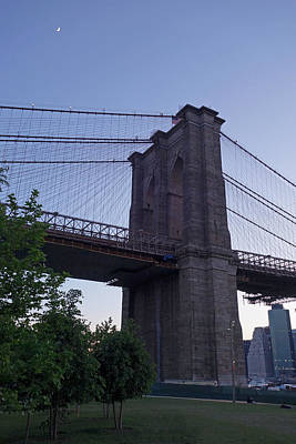 Photograph - Brooklyn Bridge Empire Fulton Ferry Park by Toby McGuire