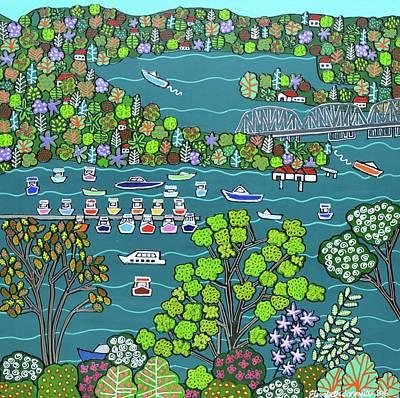 Painting - Brooklyn Bridge by Elizabeth Langreiter