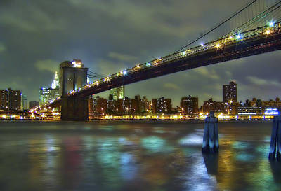 City Scenes Royalty-Free and Rights-Managed Images - Brooklyn Bridge by Evelina Kremsdorf