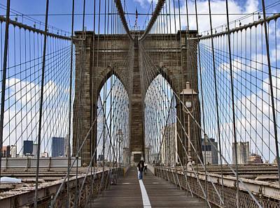 Photograph - Brooklyn Bridge by Frank Winters