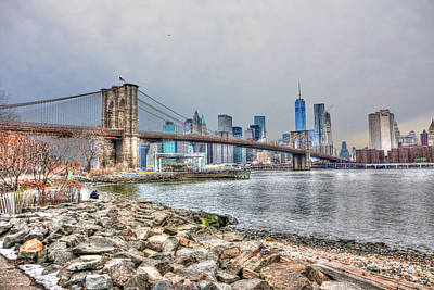 Brooklyn Bridge From Brooklyn Bridge Park Original by Randy Aveille