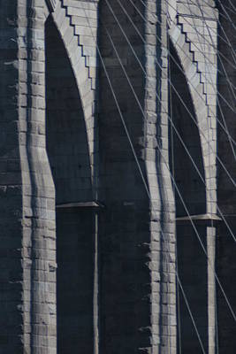 Photograph - Brooklyn Bridge From The Promenade by Christopher Kirby