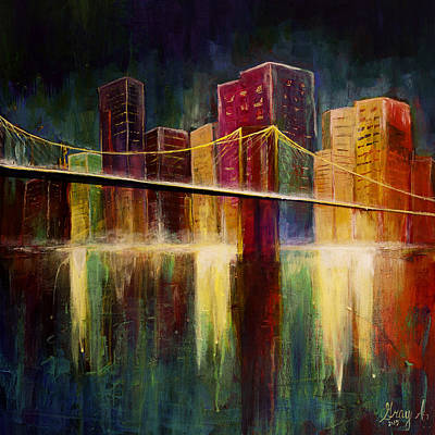 Painting - Brooklyn Bridge by Gray  Artus