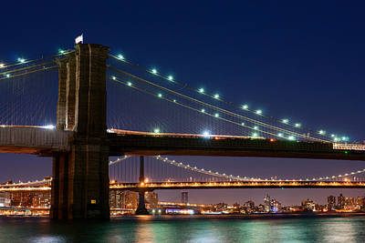 Photograph - Brooklyn Bridge Green by Rospotte Photography