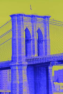 Photograph - Brooklyn Bridge Greenish Sky by Christopher Kirby