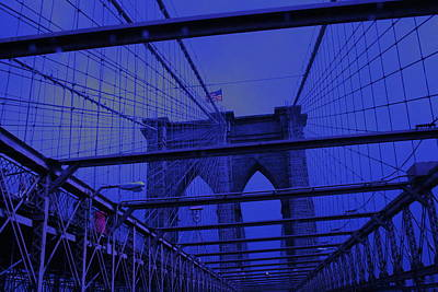 Photograph - Brooklyn Bridge In A Storm by Christopher Kirby