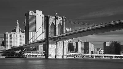 Photograph - Brooklyn Bridge Infrared by Jerry Fornarotto