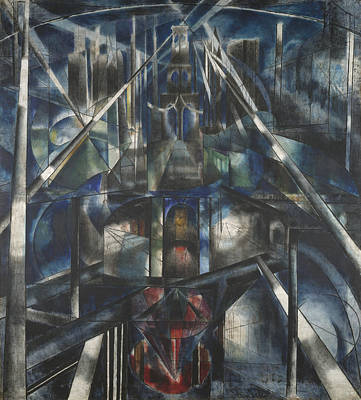 Brooklyn Bridge Painting - Brooklyn Bridge by Joseph Stella