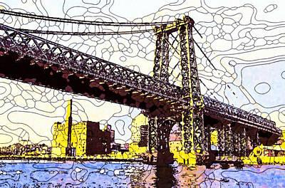Painting - Brooklyn Bridge by Jeelan Clark