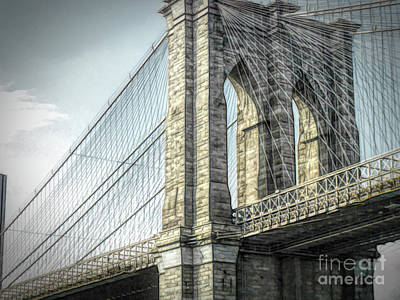 Photograph - Brooklyn Bridge by Luther Fine Art