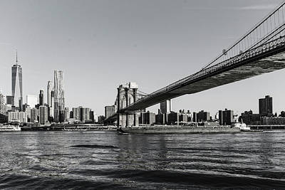 Photograph - Brooklyn Bridge Morning by Alan Raasch