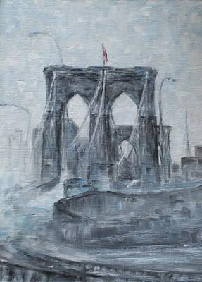 Brooklyn Bridge Art Print by Natia Tsiklauri