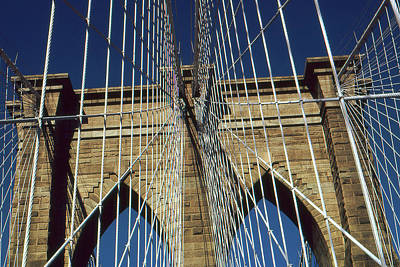 Photograph - Brooklyn Bridge New York City by Art America Gallery Peter Potter