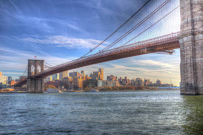 Photograph - Brooklyn Bridge New York by David Pyatt