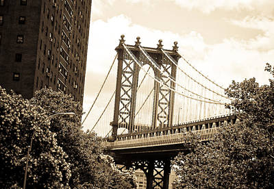 Photograph - Brooklyn Bridge New York by Mickey Clausen
