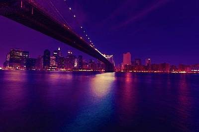 Travel - Brooklyn Bridge, New York, USA watercolor by Celestial Images