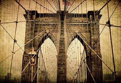 Photograph - Brooklyn Bridge Nostalgia by Jessica Jenney