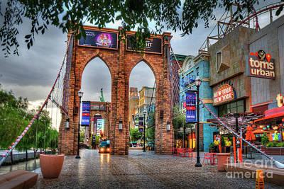 Photograph - Brooklyn Bridge Ny Ny Las Vegas by David Zanzinger