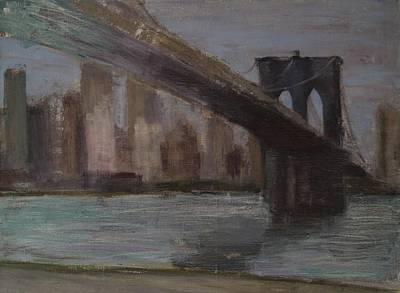 Brooklyn Bridge Painting Original by Gail Eisenfeld