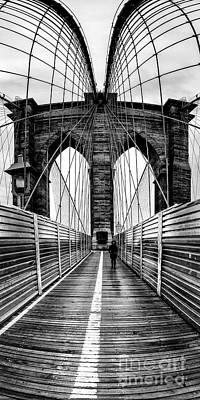 More Nyc Photograph - Brooklyn Bridge Panorama by John Farnan