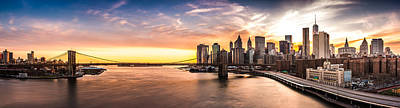 Brooklyn Bridge Panorama Art Print