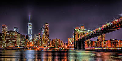 Photograph - Brooklyn Bridge Park Nights by Theodore Jones