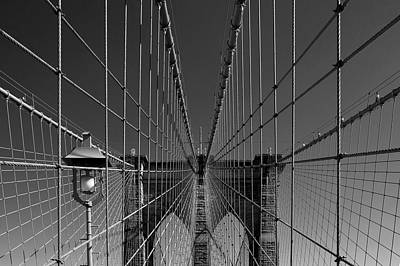 Black And White Photograph - Brooklyn Bridge Perspective by Patrick Jacquet