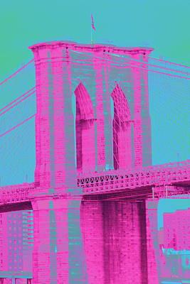 Brooklyn Bridge Pink Art Print