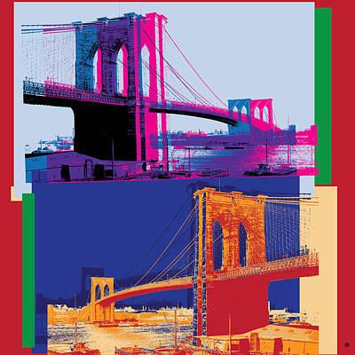 Digital Art - Brooklyn Bridge Pop by Gary Grayson