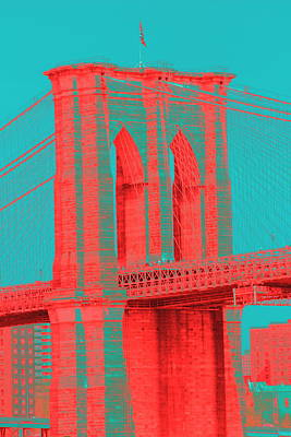 Photograph - Brooklyn Bridge Reddish  by Christopher Kirby