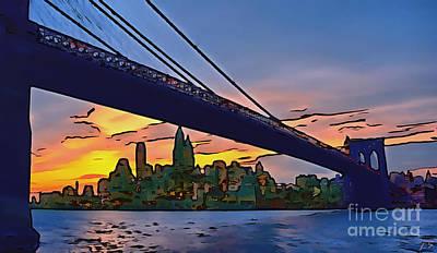 Painting - Brooklyn Bridge by Sergey Lukashin