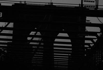 Photograph - Brooklyn Bridge Silhouette by Christopher Kirby