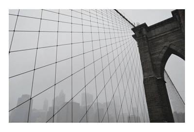 Brooklyn Bridge Snowstorm Original by David Kilborn