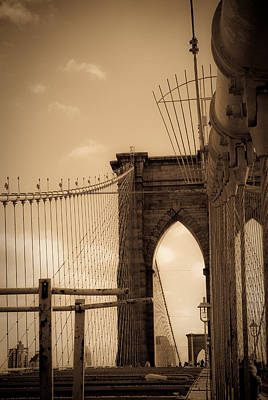 Brooklyn Bridge Span Art Print by Patrick  Flynn