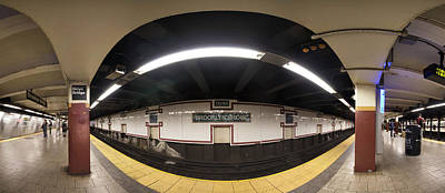 Photograph - Brooklyn Bridge Station Pano by Dave Beckerman