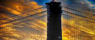 Photograph - Brooklyn Bridge Sunset by Steve Archbold