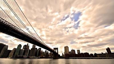 Nyc Digital Art - Brooklyn Bridge by Super Lovely
