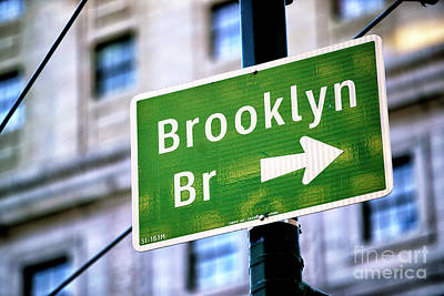 Photograph - Brooklyn Bridge This Way by John Rizzuto