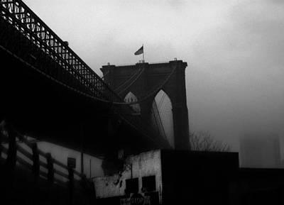 Brooklyn Bridge Through The Windshield Art Print by Todd Fox