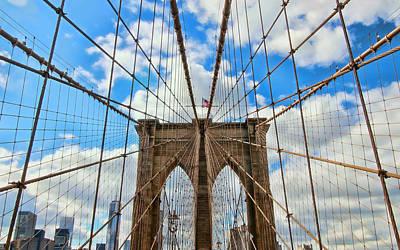Photograph - Brooklyn Bridge Tower 3 by Allen Beatty