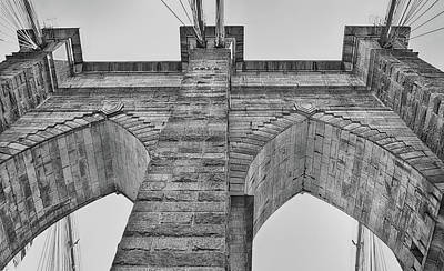 Photograph - Brooklyn Bridge Tower by Dyle Warren