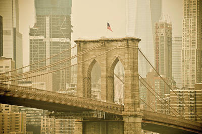 Mixed Media - Brooklyn Bridge by Trish Tritz
