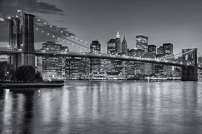 Photograph - Brooklyn Bridge Twilight II by Clarence Holmes