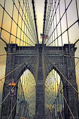 Brooklyn Bridge Twilight Art Print