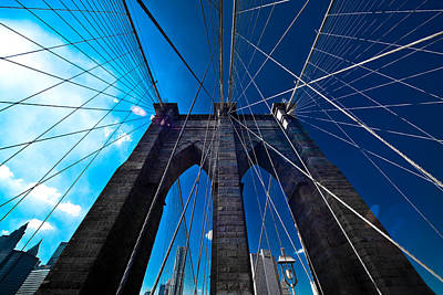 The Big Five Photograph - Brooklyn Bridge Vertical by Thomas Splietker